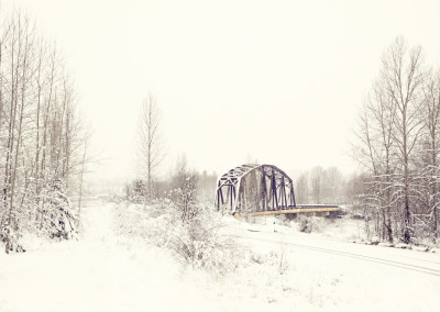 I call this image The Winter Bridge and it was taken during a beautiful snowy crisp morning in Quesnel, B.C.  By Michelle Taylor