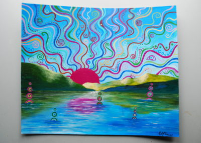 """Lakeside Dreaming"" (Inspiration - Horsefly Lake) By Katie McGarry"