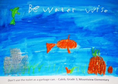 Don't use the toilet as a garbage can.  Be Water Wise! By Caleb