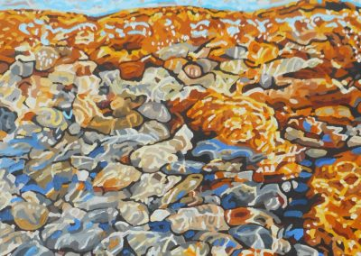"""""""Synergy"""" on the shore at Canim Beach on Canim Lake.  24X36"""" Oil on canvas, $1,295.  It will be on display at the Parkside Art Gallery in 100 Mile House as part of the show """"From a Circle"""" which features new paintings by Amy Cadron, Helen Kellington, Cindy Wickingstad and myself, Neil Pinkett.  The show opens on April 15th (reception 5pm till 7pm) and runs until May 21st.  By Neil Pinkett"""