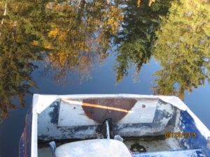boat launch at dugan lake - reflection By Rebecca Pickard