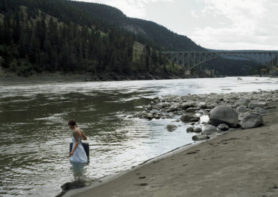 """""""Homeward Bound"""" from the series """"The Long Way Home"""" (Fraser River, Sheep Creek Bridge)  By Leah Selk"""